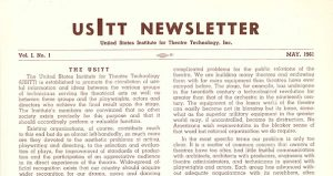 1961 USITT Newsletter