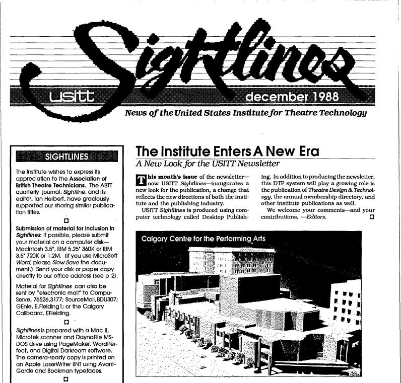 1988 Sightlines Newsletter